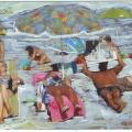 el Mar,  la Playa, los Bañistas0016